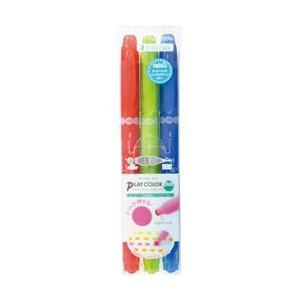 トンボ鉛筆 [水性サインペン]プレイカラードット 3色セットA GCE-311A|y-sofmap