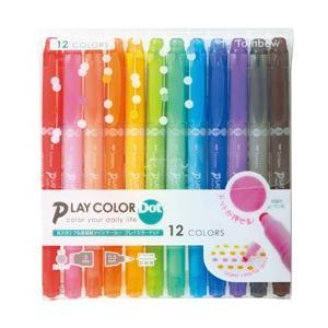 トンボ鉛筆 プレイカラードット12色セット水性サインペン|y-sofmap
