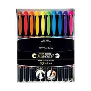 トンボ鉛筆 [蛍光ペン] 蛍光ツインマーカー 蛍コート 10色セット WA-TC10C|y-sofmap