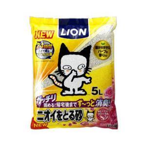 LION ライオン ニオイをとる砂(5L)フローラルソープの香り