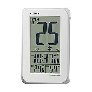 リズム時計 掛置兼用電波目覚まし時計 「スマートコートS」 8RZ139-003(ホワイト)|y-sofmap