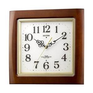 リズム時計 電波掛け時計 「ネムリーナM468R」 4MN468RH06|y-sofmap