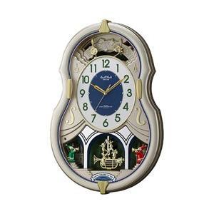 リズム時計 電波からくり時計 「スモールワールドカラーズ」 4MN543RH18 y-sofmap