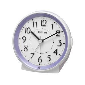 リズム時計 RHYTHM 暗所自動ライト点灯機能付 目覚まし時計 「ピュアルックR669 パープル」 8RE669SR12|y-sofmap