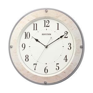 リズム時計 電波掛時計 フィットウェーブミレディM549 8MY549SR38 ベージュマーブル柄(ベージュ)|y-sofmap