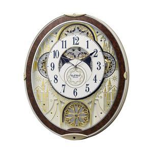 リズム時計 電波からくり時計 スモールワールドノエルNS 8MN407RH23 木目仕上げ(白)|y-sofmap