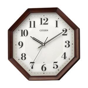 リズム時計 電波掛け時計 8MY555-006 茶色半艶仕上(白)|y-sofmap