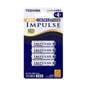 【お取り寄せ】東芝 単4形ニッケル水素充電池 4本 「IMPULSE」 TNH-4A 4P