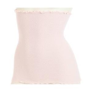 女性の冷え対策に!簡単温活アイテム。 綿混シャーリング生地を使用した、35cm丈の腹巻。丸編みで、脇...