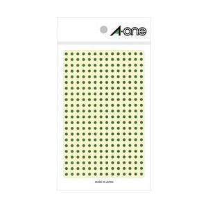 A-one 07683 (カラーラベル/緑/丸型...の商品画像