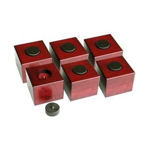 山本音響工芸 コクタン製ピンと桜材ウッドブロックの支持型スピーカーベース 6個1組  PB-11A-6PB-11A-6