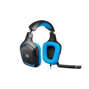 ロジクール(Logicool) G430 Surround Sound Gaming Headset(サラウンドサウンド ゲーミングヘッドセット/7.1ch/ブラック・ブルー) y-sofmap