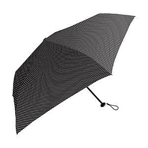 中谷 【折りたたみ傘】超軽量折り畳み傘 ピンドット 839002 ブラック [50cm]