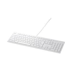 BUFFALO 有線キーボード[USB] 【Mac用キー配列】 テンキー付 BSKBM01WH [E...