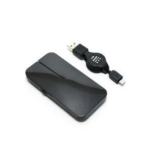 ミヨシ SRM-MA02/BK マウス 薄型 ブラック [BlueLED /3ボタン /USB /有線]|y-sofmap
