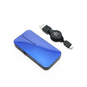 ミヨシ SRM-MA02/BL マウス 薄型 ブルー [BlueLED /3ボタン /USB /有線]|y-sofmap