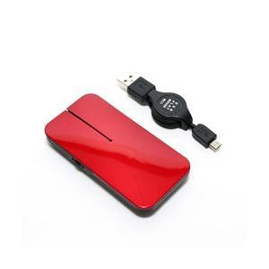 ミヨシ SRM-MA02/RD マウス 薄型 レッド [BlueLED /3ボタン /USB /有線]|y-sofmap