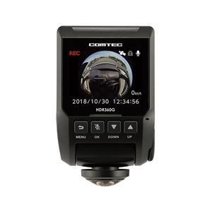 コムテック HDR360G ドライブレコーダー GPS+360°カメラ搭載高性能 [一体型 /スーパーHD・3M(300万画素) /駐車監視機能付き]|y-sofmap