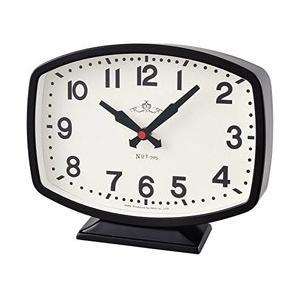 ノア精密 ヴィンテージデザインテーブルクロック アナログ2針時計モニーツBK T-705BK-Z|y-sofmap
