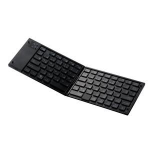 エレコム 【スマホ/タブレット対応】ワイヤレスキーボード[Bluetooth3.0・Android/iOS/Win] タッチパッド搭載 TK-FLP01PBK|y-sofmap