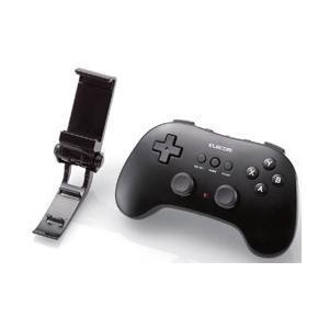 エレコム(ELECOM) スマホ用 Bluetoothゲームパッド 12ボタン ホルダー付