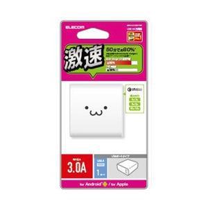 エレコム タブレット/スマートフォン対応 [USB給電] AC充電器 QuickCarge3.0対応 3A出力 USB1ポート MPA-ACUQ01WF|y-sofmap