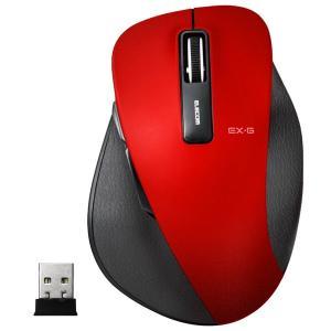 エレコム ワイヤレスBlueLEDマウス[2.4 GHz USB・Mac/Win] EX-G M-XGM10DBシリーズ Mサイズ(5ボタン・レッド) M-XGM10DBRD|y-sofmap
