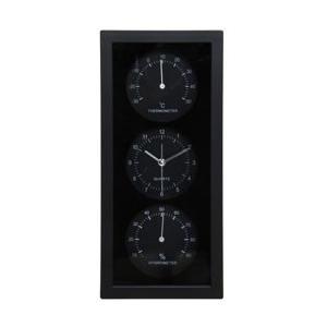 不二貿易 Fuji Boeki 置時計温湿度計付き ダンデ 縦型 BK 99061|y-sofmap
