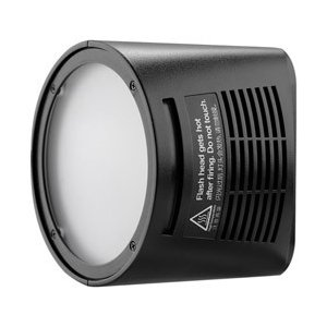 広範囲に柔らかく照射できるAD200用ラウンドヘッド。4.3Wのモデリングランプを内蔵。