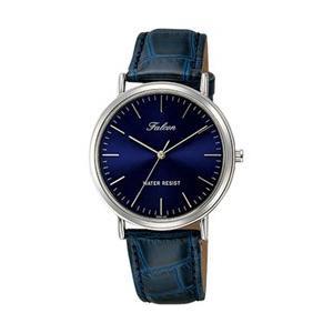 シチズン ファルコン 腕時計 日本製ムーブメント 革ベルト ネイビー Q996-302 メンズ 紳士