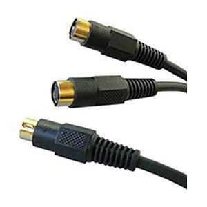 【お取り寄せ】富士パーツ S端子分配ケーブルS端子プラグ×1-S端子ジャック×2(0.3m) FVC-138