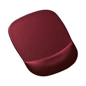 〔大型:レーザー式/光学式/ボール式対応〕 手首を優しく守る、低反発ウレタンリストレスト付きマウスパ...