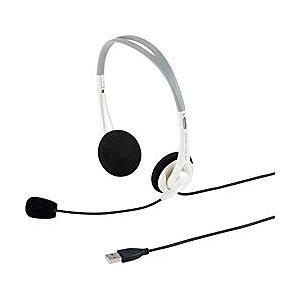 SANWA SUPPLY(サンワサプライ) ヘッドセット[USB] 両耳オーバーヘッドタイプ(ホワイ...