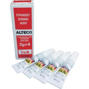 アルテコ アルテコ 業務用 瞬間接着剤 ジェル 3g×4本入り (使い切りタイプ)