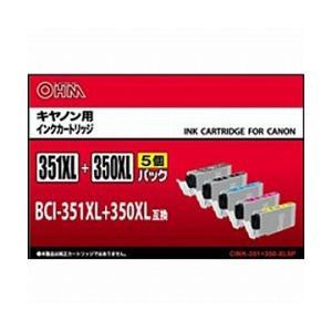 オーム電機 互換 [キヤノン:BCI-351+350/5MP対応] リサイクルインクカートリッジ(5色セット) CINK351350XL5P|y-sofmap