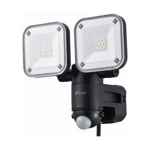 オーム電機 【屋外用】コンセント式LEDセンサーライト(2灯)「monban」 LS-A2165B-...