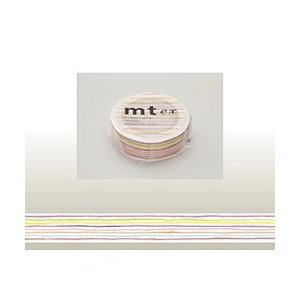 色えんぴつで描いたフリーハンドのボーダーがかわいく、やさしく、あたたかいデザインのテープです。