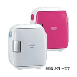 TWINBIRD2電源式コンパクト電子保冷保温ボックス「D-CUBES」HR-DB06GYグレー