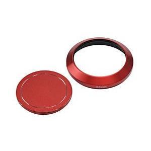 エツミ レンズフード メタルインナーフード+キャップセット(46mm/レッド) E-6471