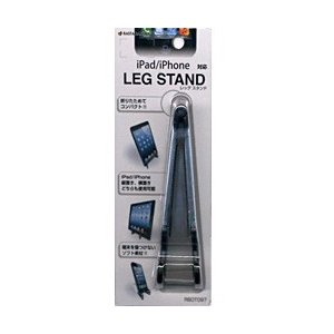 ラスタバナナ タブレット/スマートフォン対応[〜厚さ15mm] LEG STAND (ブラック) RBOT097|y-sofmap