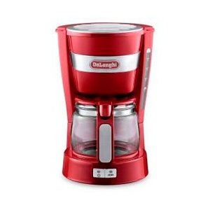 デロンギ ドリップコーヒーメーカー(レッド) ICM1401...