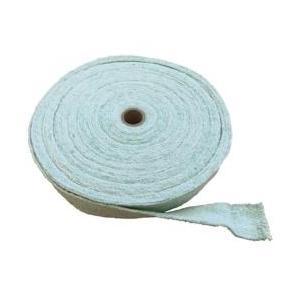 生体溶解性セラミック繊維に少量の有機繊維を混入し、ガラス繊維で補強された紡績ヤーンを原料として製作さ...