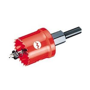 ロング刃長のため、幅広い分野の穴あけに適応します。独自のコバルトバイメタル刃を使用しています。