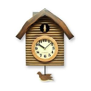 さんてる からくり時計 「手作り鳩時計」 QL650-BR(アンティークブラウン) y-sofmap