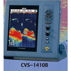 CVS-1410B  振動子TDM-091D 魚探 魚群探知機 光電 KODEN CVS1410B ブローバンド魚探 TDM-091D付 お魚サイズ・デジタル魚探|y-square
