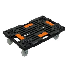 お得な12個セット有り PD-427-3SN 樹脂連結ドーリー 荷崩れ防止ガイド付き (積載荷重100kg)  ピタッとはまる連結平台車 PD-427-3SN 平台車 台車|y-square