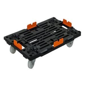 12個セット PD-427-3SN 樹脂連結ドーリー 荷崩れ防止ガイド付き (積載荷重100kg) ナイロンキャスター ピタッとはまる連結平台車 PD-427-3SN 平台車 台車|y-square