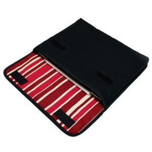 11インチ iPad Proケース「FILO」(ブラック・ボルドーストライプ)--suono(スオー...