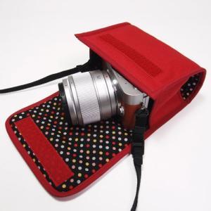 LUMIX GF9ケース(レッド)-- 単焦点レンズ用 --...