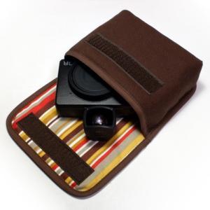 カメラケース デジカメ リコーGR3ケース--外部ファインダー用(ココア・シエナオレンジ)--suo...